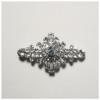 Rhinestone Hair Barrette Floral Silver/crystal